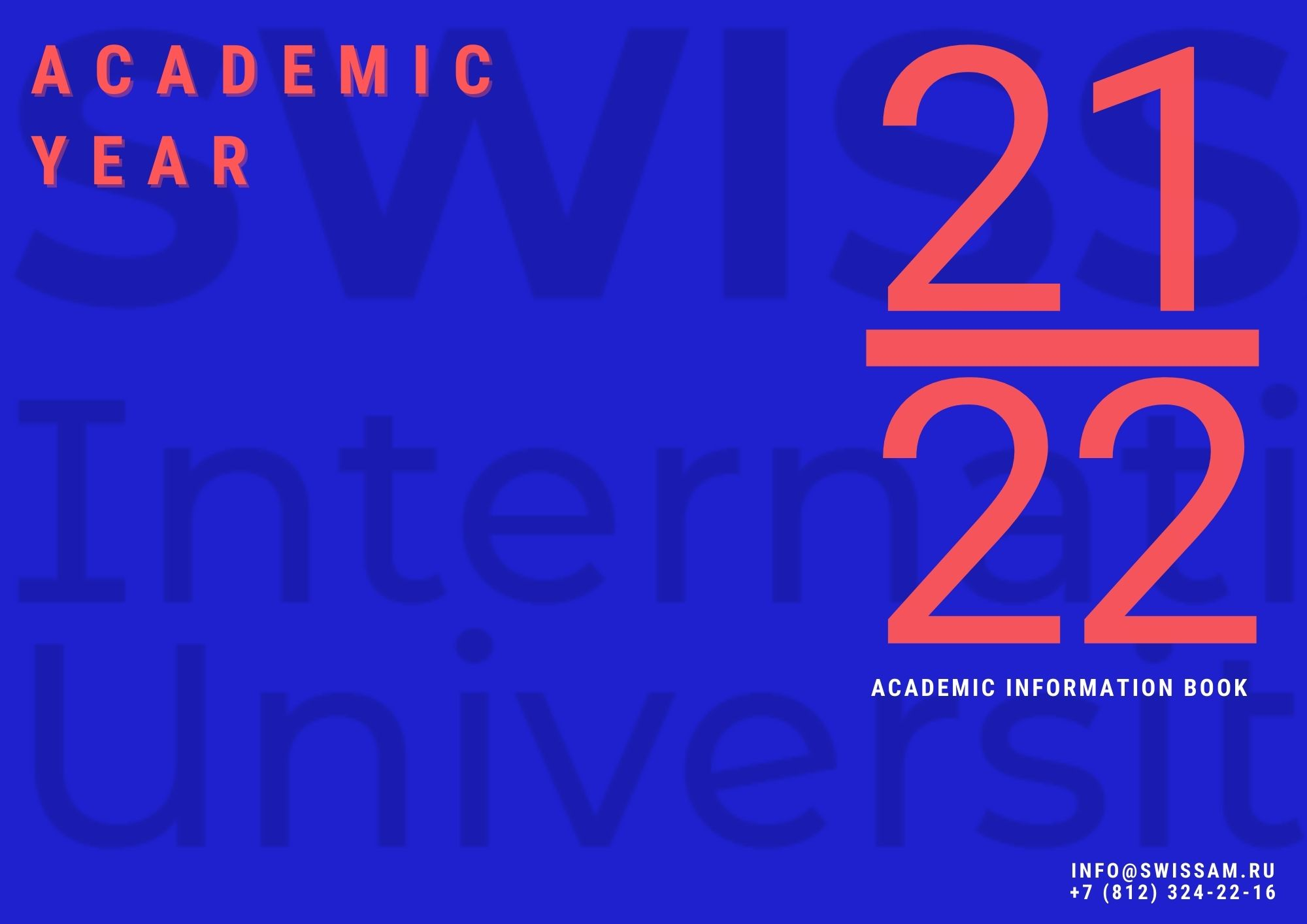 Academic calendar 21/22